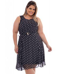 vestido Plus Size Poá